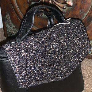 Mini black w/sequins backpack